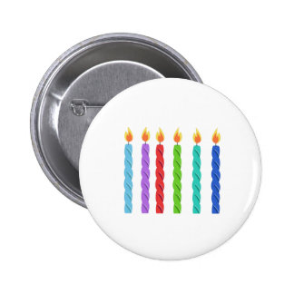 Birthday Candles Pinback Buttons