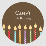 Birthday Candles Favour Stickers