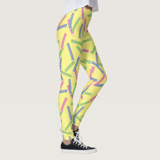 Birthday Candles Pattern Leggings