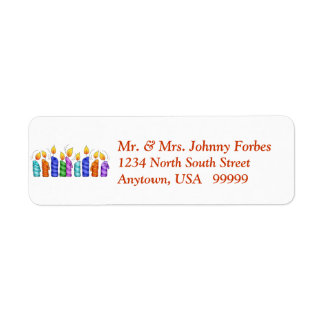 Birthday Candles Return Address Labels