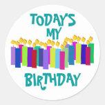 Birthday Candles Round Sticker