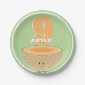 Birthday Cantaloupe | Paper Plate