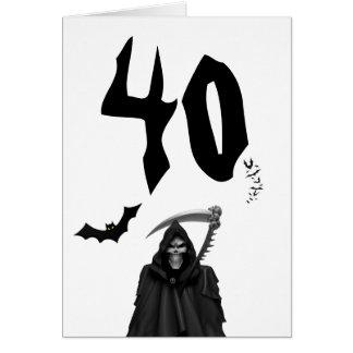 Birthday Card: 40th. Birthday Card