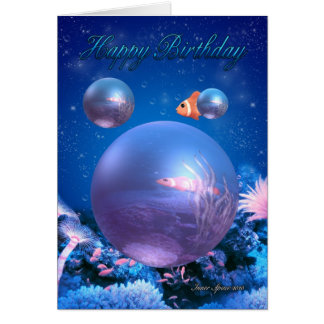 Birthday Card - Aquatic - Inner Space