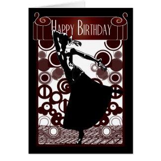 Birthday card Art Deco Roaring 20's