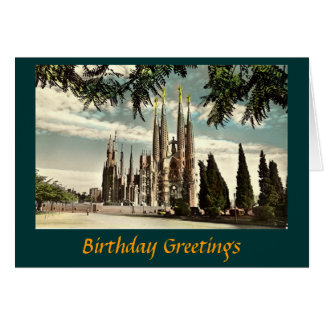 Birthday Card, Barcelona, Sagrada Familia Card