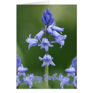 Birthday Card - Bluebells