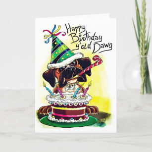 Birthday Card Boxer Dog Themed