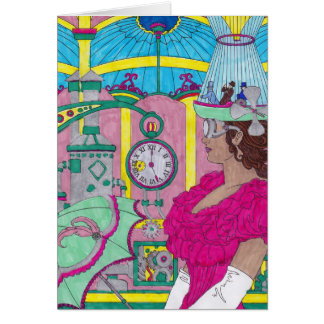 Birthday Card - Bright Steampunk