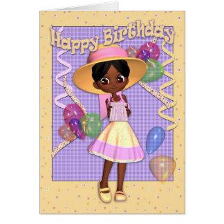 Birthday Card - Cute Little Girl