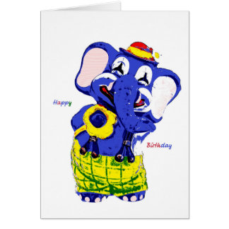 Birthday card elephant, Children's birthday