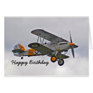 Birthday Card for a Pilot with Airplane