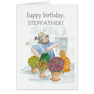 Birthday Card for a Stepfather - Gardening