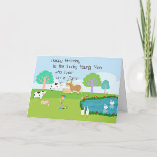 Birthday Card For A Young Man Who Lives On Farm