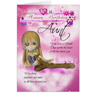 Birthday card for Aunt, Moonies Cutie Pie collecti