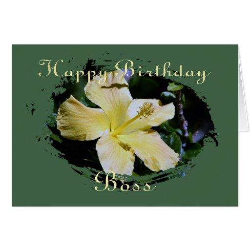 Birthday Card For Boss Card