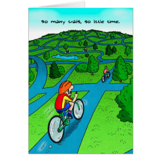 Birthday Card for Cyclist - So Many Trails