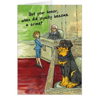 Birthday Card for Dog Lover - Loyal Rottweiler