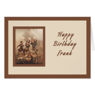 Birthday Card for Frank, War Hero