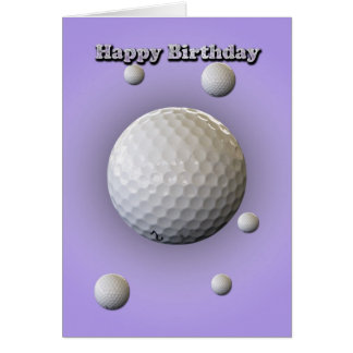 Birthday Card for Golfer