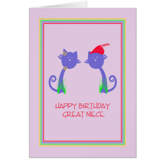 Birthday Card for Great Niece
