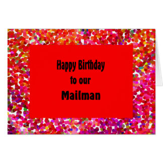 Birthday Card for Mailman Red Design