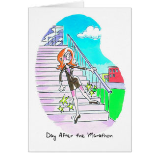 Birthday Card for Marathoner - Stiff Legs