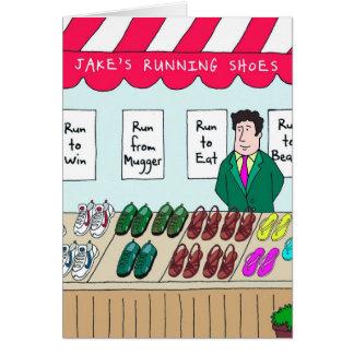 Birthday Card for Runner - Jake's Running