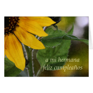 Birthday Card For Sister Spanish