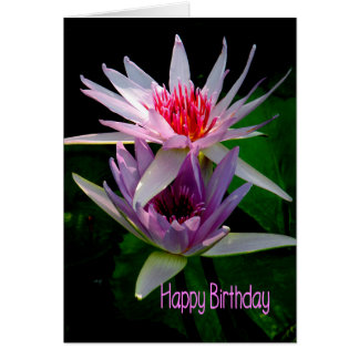Birthday Card for Sister, Water Lilies