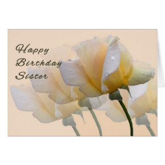 Birthday Card for your Sister with Yellow Roses