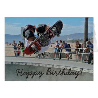 Birthday Card: Guy doing Tricks on his Skateboard Card