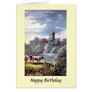 Birthday Card - Hereford Cathedral