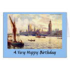 Birthday Card - Houses of Parliament, London