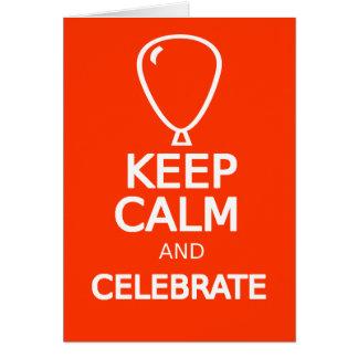Birthday card keep calm