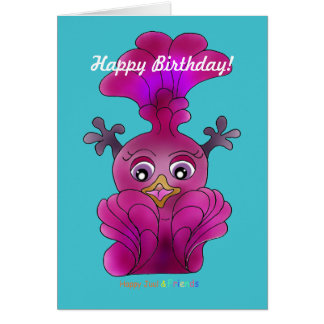"Birthday Card ""Lila"""