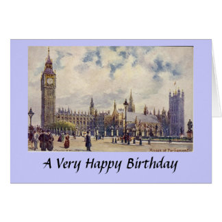 Birthday Card - London, Houses of Parliament
