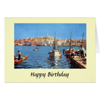 Birthday Card - Marseille