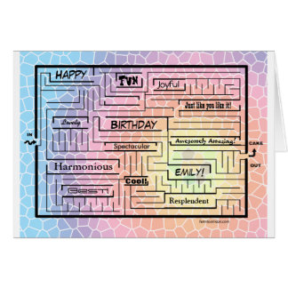 Birthday card/maze for Emily (customizable!) Card