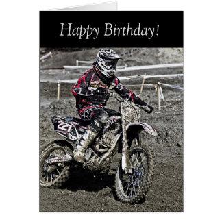 Birthday Card: Motocross Guy Card