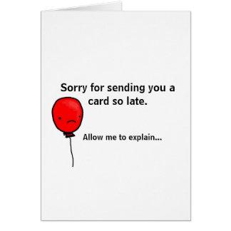 Birthday Card Paradox - belated birthday