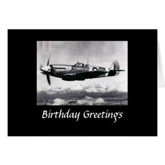 Birthday Card - RAF Spitfire