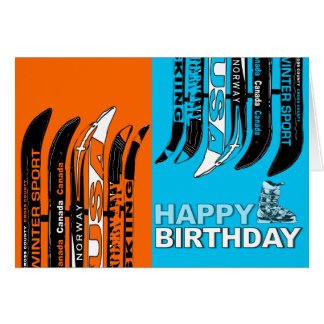 Birthday Card Snow Blade