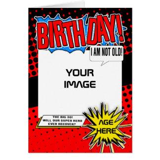 Birthday Card - Superhero Comic Spoof