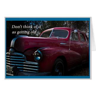 Birthday Card vintage car