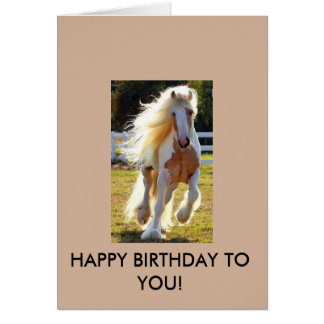 Birthday Card with a beautiful horse!