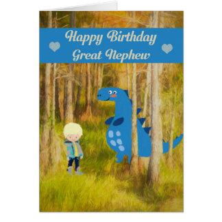Birthday Card with a Dinosaur Great Nephew