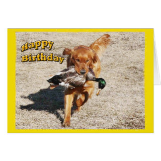 Birthday card with a Dog