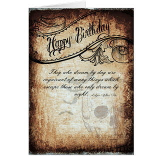 Birthday card with a touch of Poe