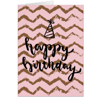 Birthday Card with Inverted Zig Zag Design